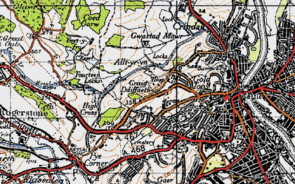 Old map of Ridgeway in 1946