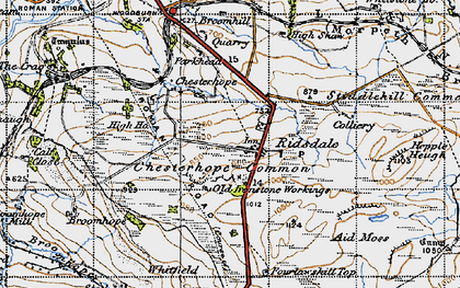 Old map of Aid Moss in 1947