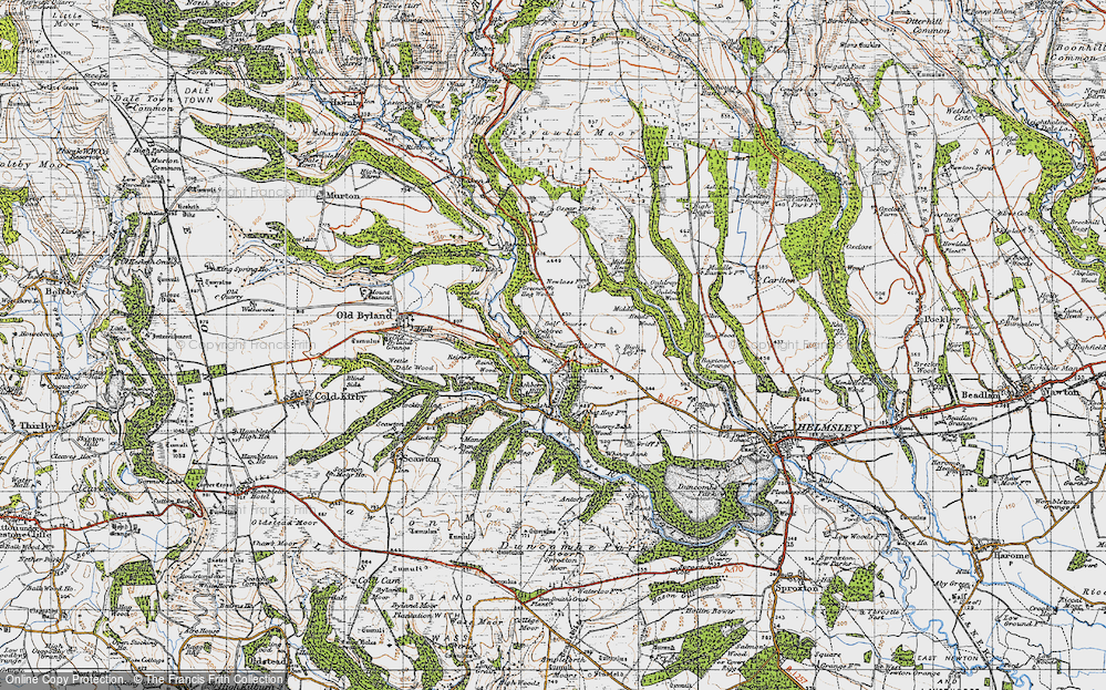 Old Map of Historic Map covering Ashberry Wood in 1947