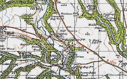 Old map of Ashberry Wood in 1947