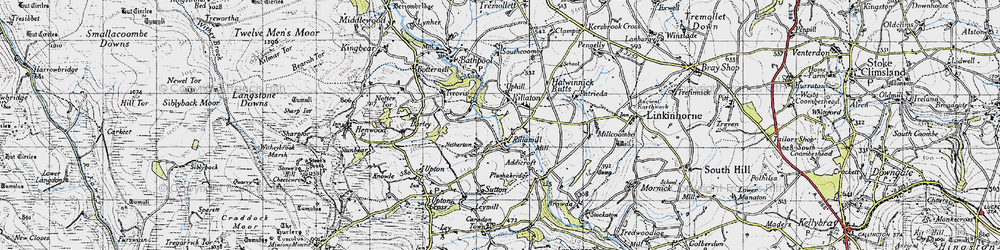 Old map of Rilla Mill in 1946