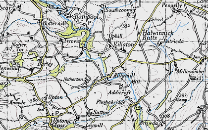 Old map of Rillaton in 1946