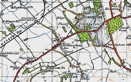 Old map of Rillington in 1947