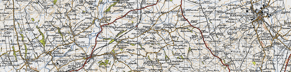 Old map of Wood, The in 1947