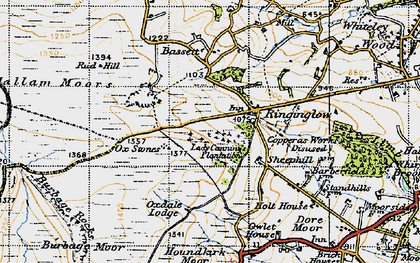 Old map of Whitelow in 1947