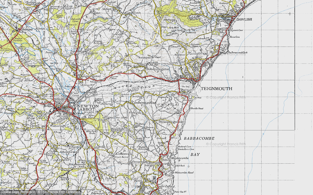 Old Map of Ringmore, 1946 in 1946