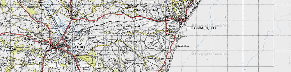 Old map of Ringmore in 1946