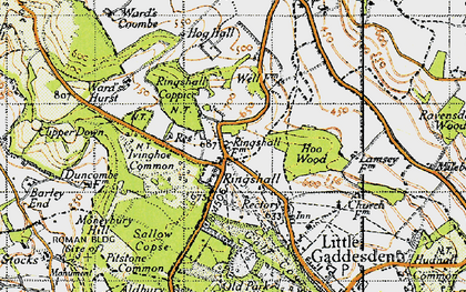 Old map of Ringshall in 1946