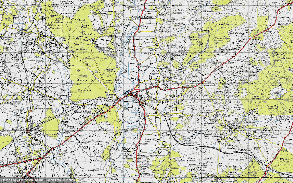 Old Map of Ringwood, 1940 in 1940