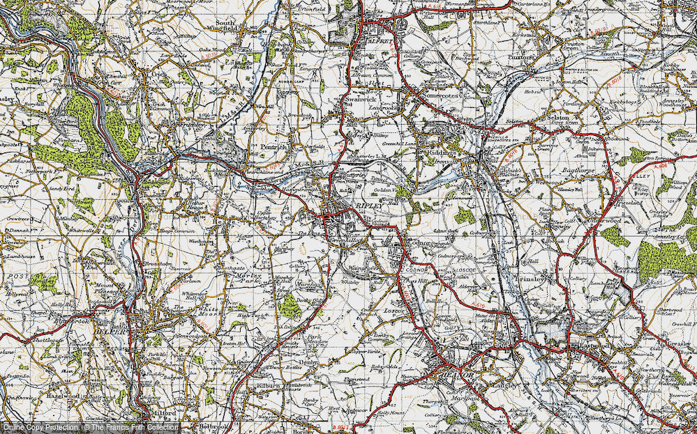 Old Map of Ripley, 1946 in 1946