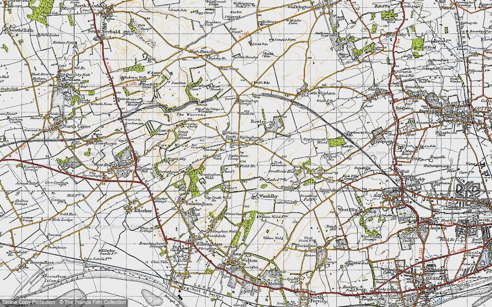 Old Map of Riplingham, 1947 in 1947