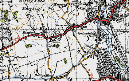 Old map of Risley in 1946