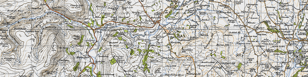 Old map of Windyates in 1947