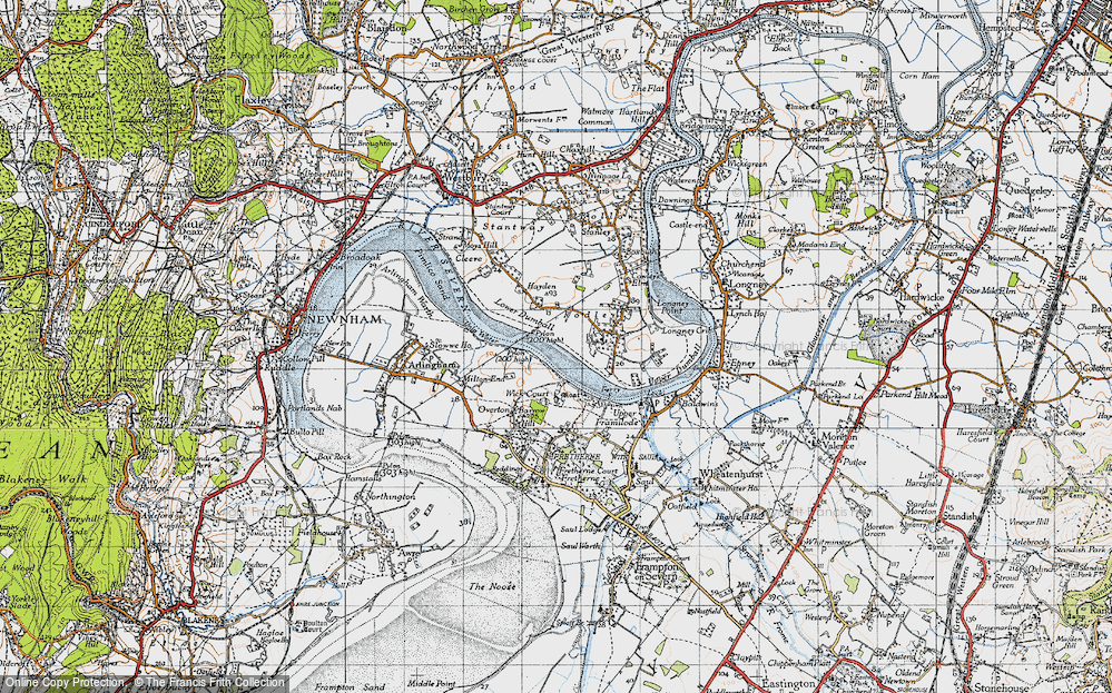 Old Map of River Severn, 1946 in 1946