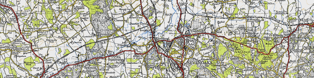 Old map of Riverhead in 1946