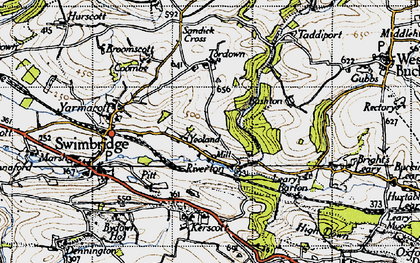 Old map of Yeoland Ho in 1946