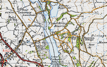 Old map of Alance Bridge in 1947
