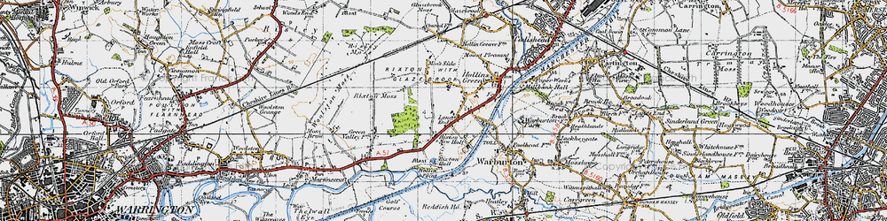 Old map of Rixton in 1947