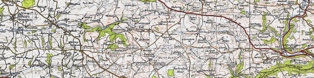 Old map of Wiston in 1946