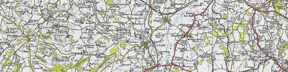 Old map of Willhayne in 1946