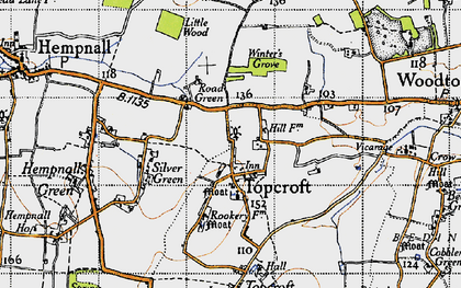 Old map of Winter's Grove in 1946