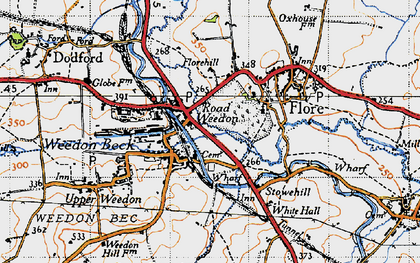 Old map of Road Weedon in 1946