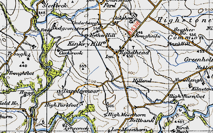 Old map of Whitberry Burn in 1947