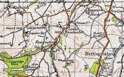 Old map of Roadwater in 1946