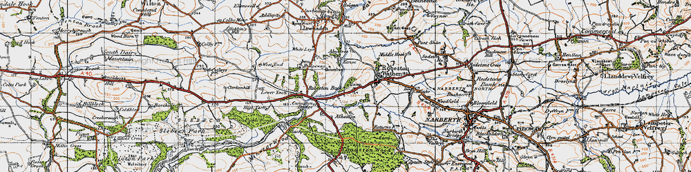 Old map of Abystree in 1946