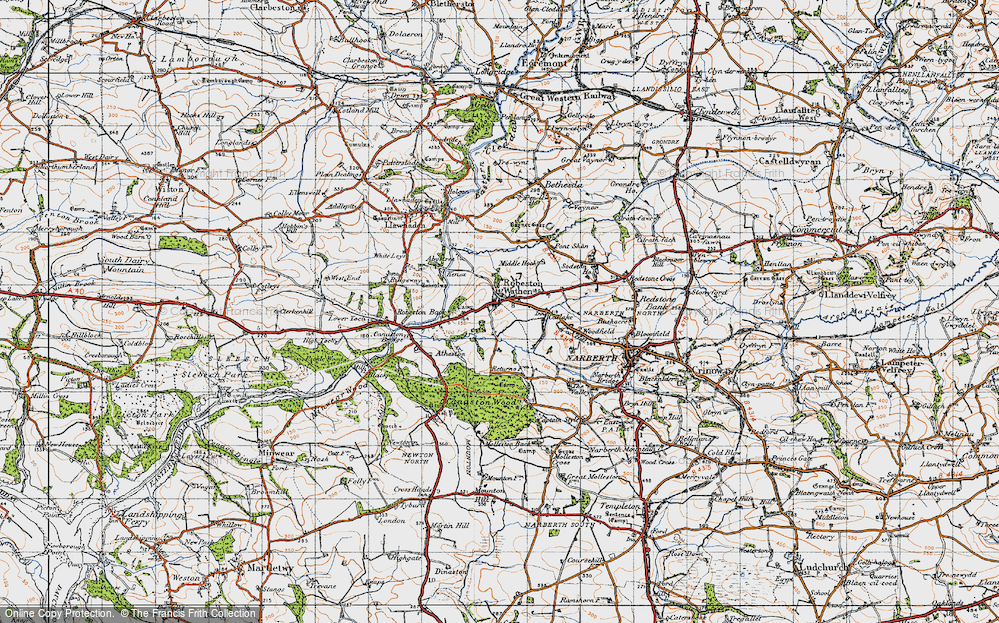 Old Map of Historic Map covering Woodfield in 1946