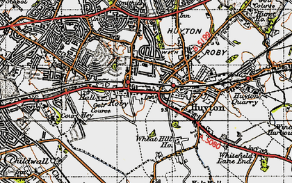 Old map of Roby in 1947