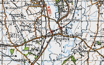 Old map of Abbotsholme School in 1946