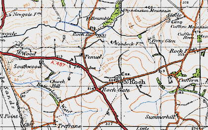 Old map of Roch in 1946