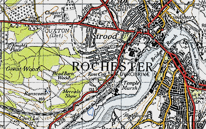 Old map of Rochester in 1946