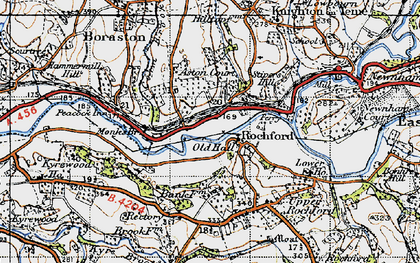 Old map of Rochford in 1947