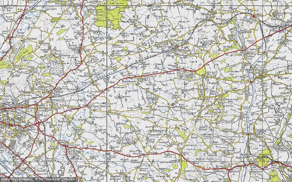 Old Map of Rockbeare, 1946 in 1946
