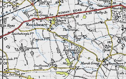 Old map of Rockbeare in 1946