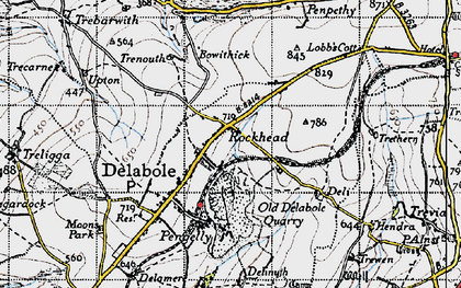 Old map of Rockhead in 1946