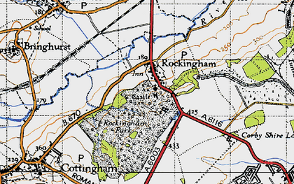 Old map of Rockingham in 1946
