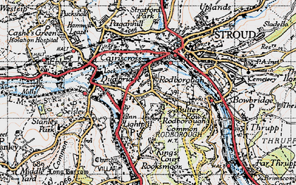 Old map of Rodborough in 1946
