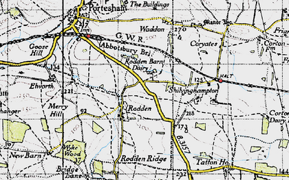 Old map of Wyke Wood in 1946