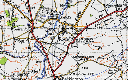 Old map of Rode in 1946