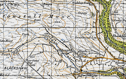 Old map of Alcomden Water in 1947