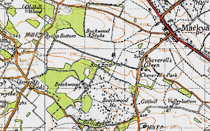 Old map of Roe End in 1946