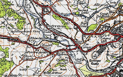 Old map of Rogerstone in 1947