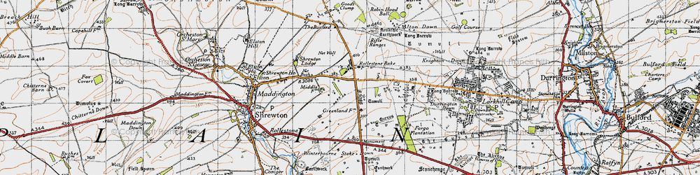 Old map of Airman's Corner in 1940