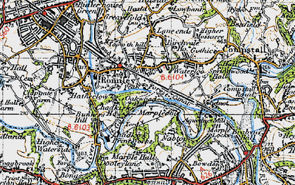 Old map of Romiley in 1947