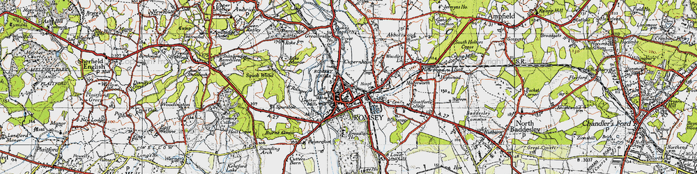 Old map of Romsey in 1945