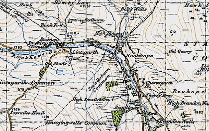 Old map of Rookhope in 1947