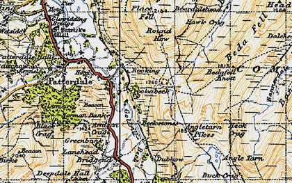 Old map of Bannerdale Beck in 1947